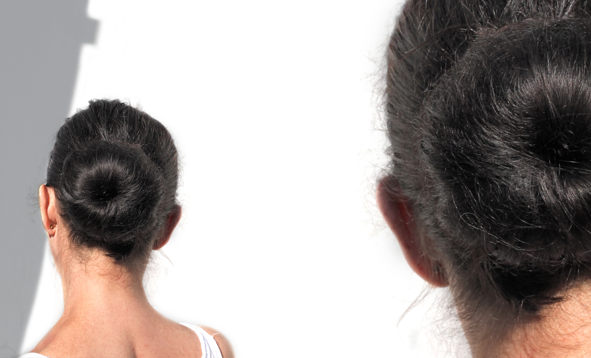 graue Haare Knoten