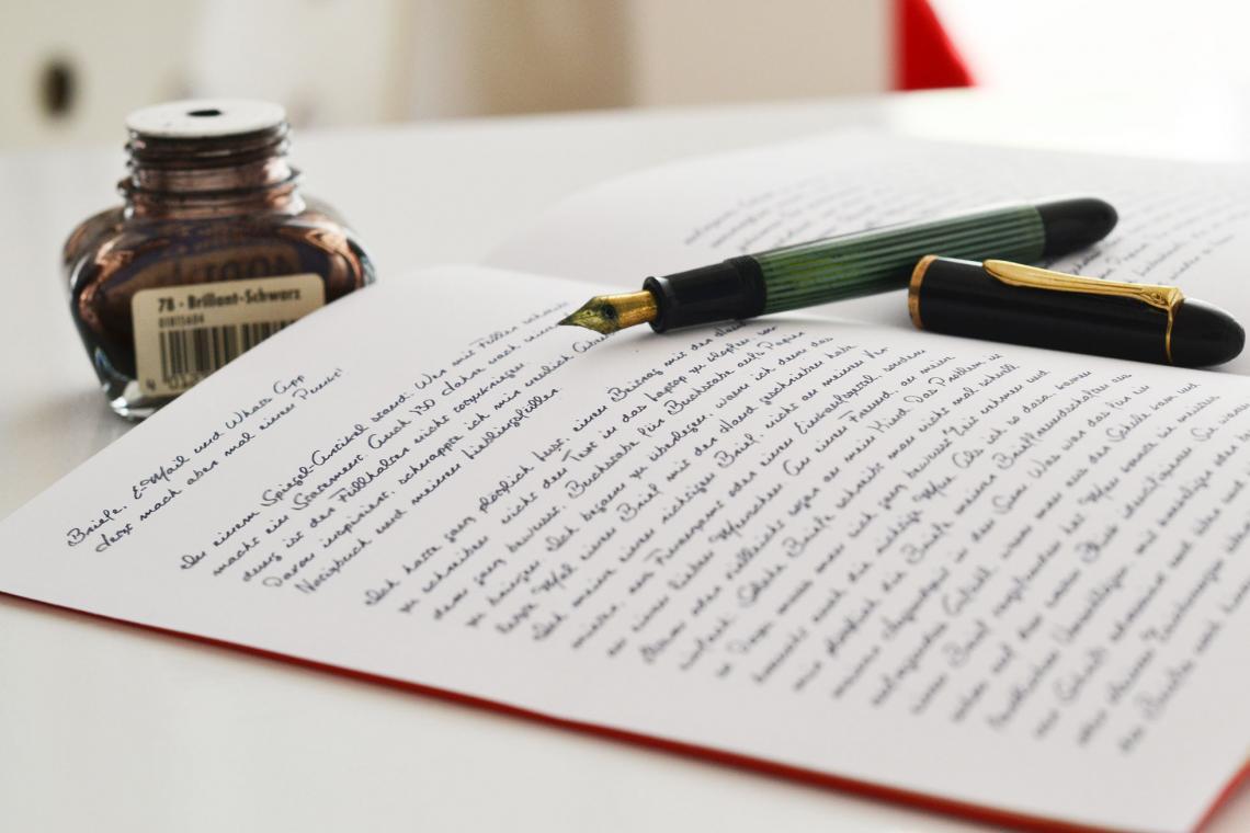Mit Füller schreiben