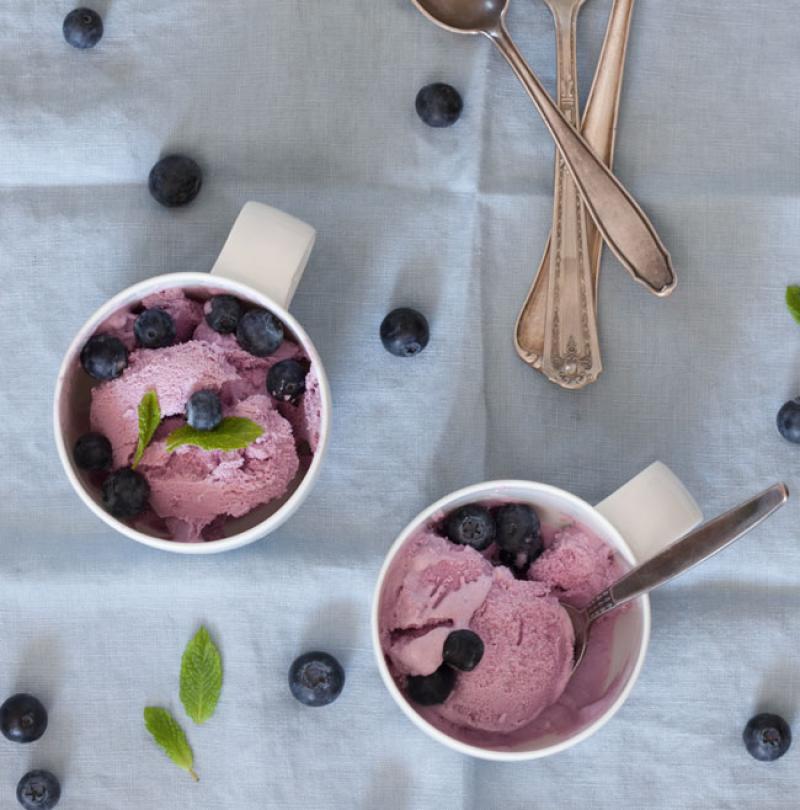 Blaubeer-Joghurt Eis